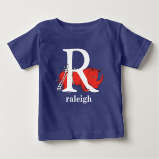 Dr. Seuss's ABC: Letter R - White   Add Your Name Baby T-Shirt