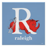 Dr. Seuss's ABC: Letter R - White | Add Your Name Poster
