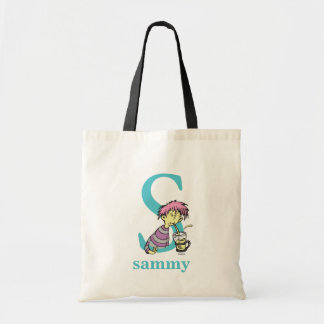 Dr. Seuss's ABC: Letter S - Blue   Add Your Name Tote Bag