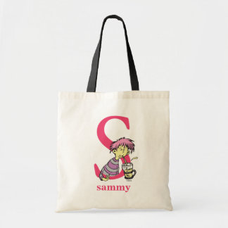 Dr. Seuss's ABC: Letter S - Pink   Add Your Name Tote Bag