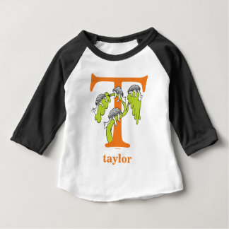 Dr. Seuss's ABC: Letter T - Orange | Add Your Name Baby T-Shirt