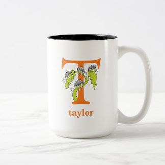 Dr. Seuss's ABC: Letter T - Orange | Add Your Name Two-Tone Coffee Mug