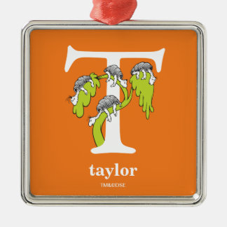 Dr. Seuss's ABC: Letter T - White | Add Your Name Christmas Ornament