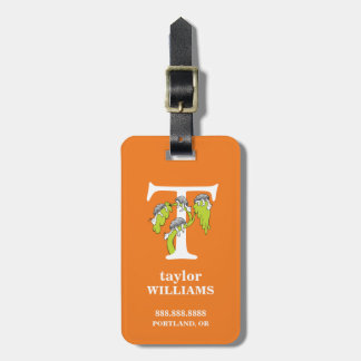 Dr. Seuss's ABC: Letter T - White | Add Your Name Luggage Tag