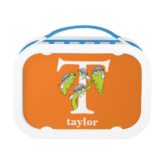 Dr. Seuss's ABC: Letter T - White   Add Your Name Lunch Boxes