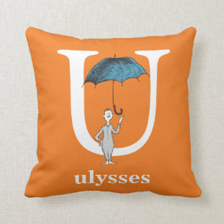 Dr. Seuss's ABC: Letter U - White | Add Your Name Cushion