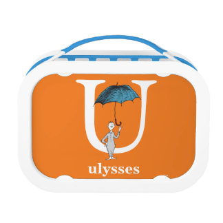 Dr. Seuss's ABC: Letter U - White | Add Your Name Lunch Box