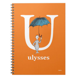 Dr. Seuss's ABC: Letter U - White | Add Your Name Spiral Notebook