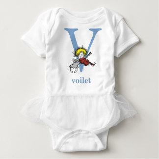 Dr. Seuss's ABC: Letter V - Blue   Add Your Name Baby Bodysuit