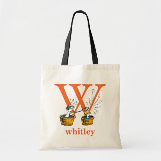 Dr. Seuss's ABC: Letter W - Orange | Add Your Name Tote Bag