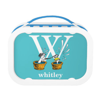 Dr. Seuss's ABC: Letter W - White | Add Your Name Lunch Box