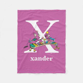 Dr. Seuss's ABC: Letter X - White | Add Your Name Fleece Blanket