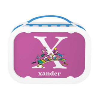 Dr. Seuss's ABC: Letter X - White   Add Your Name Lunchboxes