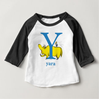 Dr. Seuss's ABC: Letter Y - Blue   Add Your Name Baby T-Shirt