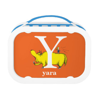 Dr. Seuss's ABC: Letter Y - White   Add Your Name Lunchboxes