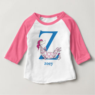 Dr. Seuss's ABC: Letter Z - Blue | Add Your Name Baby T-Shirt