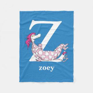 Dr. Seuss's ABC: Letter Z - White | Add Your Name Fleece Blanket