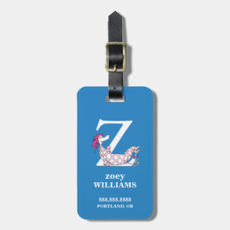 Dr. Seuss's ABC: Letter Z - White | Add Your Name Luggage Tag