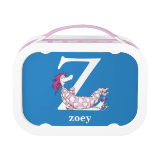 Dr. Seuss's ABC: Letter Z - White | Add Your Name Lunch Box