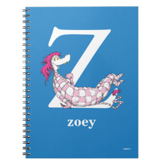 Dr. Seuss's ABC: Letter Z - White | Add Your Name Notebook