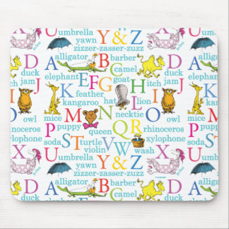 Dr. Seuss's ABC Pattern with Words Mouse Mat