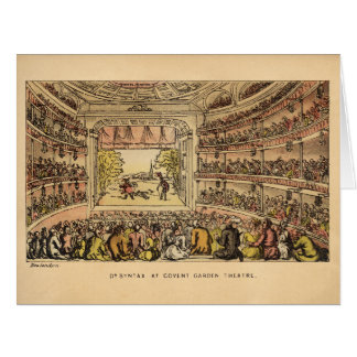 Dr. Syntax at Covent Garden Theatre Big Greeting Card