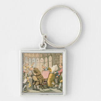 Dr Syntax in Danger, from 'The Tour of Dr Syntax i Silver-Colored Square Key Ring