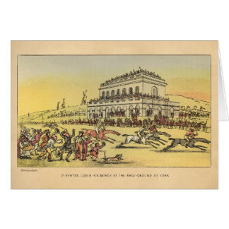 Dr. Syntax Loses his Money at the Race Ground Greeting Card