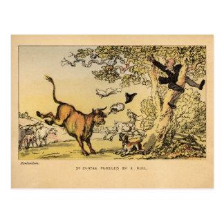 Dr. Syntax Pursued by a Bull Postcard