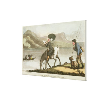 Dr. Syntax sketching the lake Canvas Print