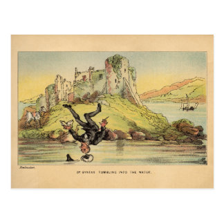 Dr. Syntax Tumbling into the Water Postcard