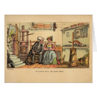 Dr. Syntax with the Dairy Maid Big Greeting Card