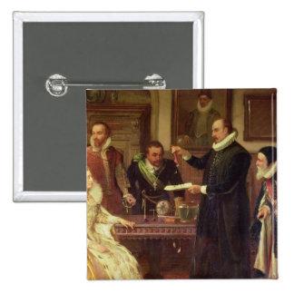 Dr William Gilberd 15 Cm Square Badge