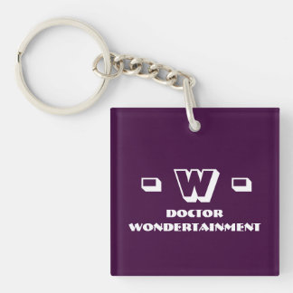 Dr. Wondertainment's Keyholder [SCP Foundation] Double-Sided Square Acrylic Key Ring