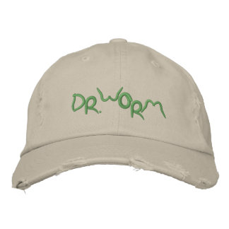 Dr Worm Embroidered Hat