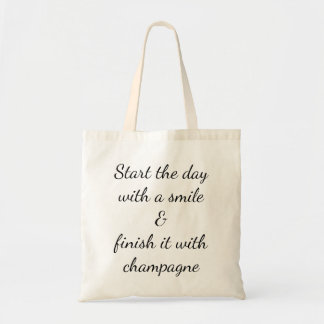Draagtas satchel quotation laugh champagne