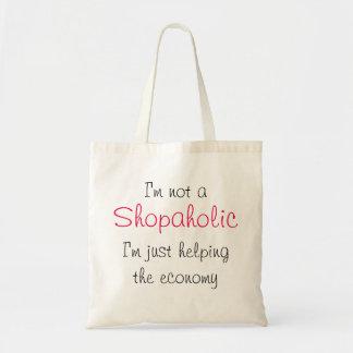 Draagtas satchel quotation shopaholic shop tote bag
