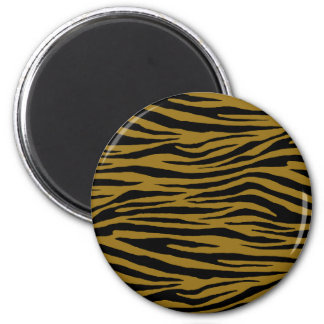 Drab Tiger 6 Cm Round Magnet