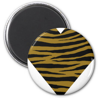 Drab Tiger GH 6 Cm Round Magnet