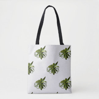 Dracaena Limelight plant scroll tote