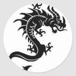 Drache, Dragon Runde Aufkleber