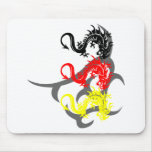 Drachen 4 farbig mit Tribal Mousepads