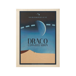 Draco Constellation Art Deco Space Travel Poster