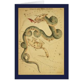 Draco Constellation Card