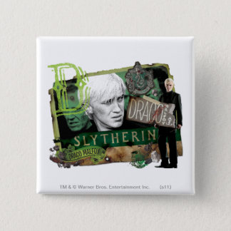 Draco Malfoy Collage 1 15 Cm Square Badge