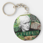 Draco Malfoy Collage 1 Basic Round Button Key Ring