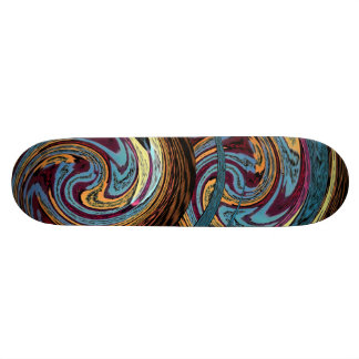 Draco Skateboard. Multicolored Dragon Round Design 21.6 Cm Skateboard Deck