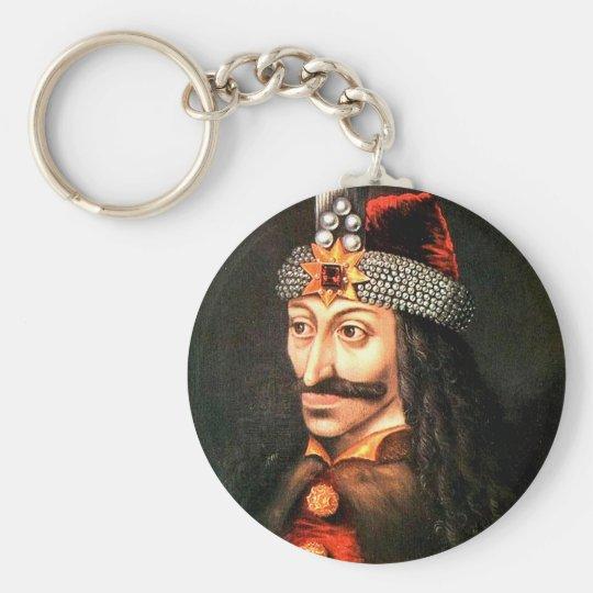 dracula basic round button key ring