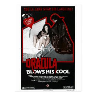 DRACULA BLOWS HIS COOL POSTCARD
