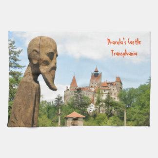Dracula Castle in Bran, Brasov, Transylvania Tea Towel